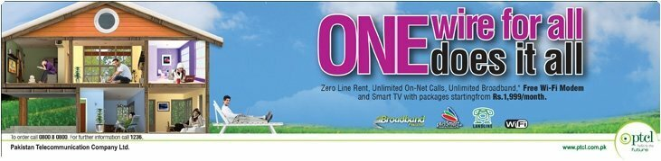 PTCL Unlimited Package with Double Up
