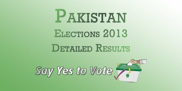 Pakistan Election 2013 Detailed Results