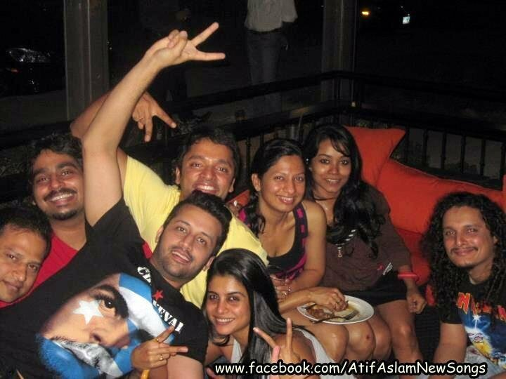 Atif Aslam with friends