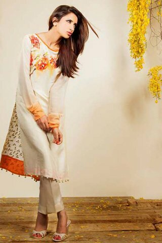 Silk by Fawad Khan Latest Dress 2013 Available for Rs.22,500