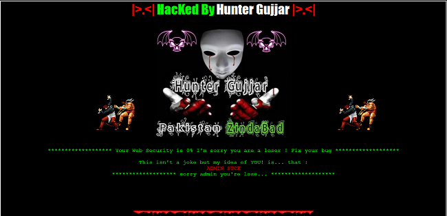 Indian Websites Hacked By Pakistani Hackers