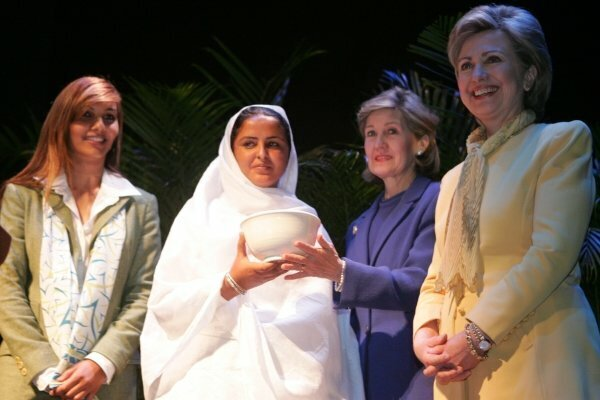 Mukhtar Mai and Hillary Clinton