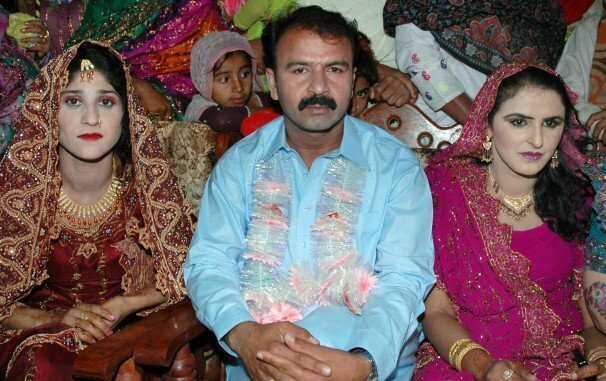 Mukhtar Mai with her Husband Nasir Gabol and his first wife Shehla Kiran