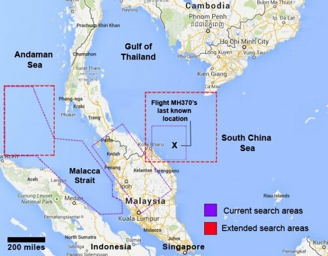 Possible Crash Location of MH370