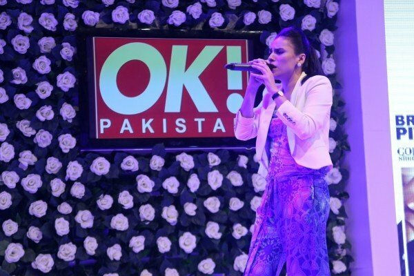 Zoe Viccaji during musical performance at OK Pakistan event