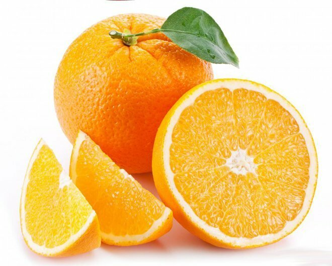 Fruits Skin treatments in summer with orange