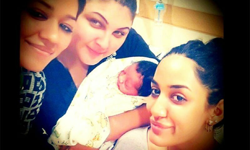 Mathira gave birth to baby boy