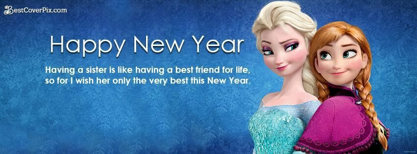 happy-new-year-frozen-sisters-love-fb-cover-photo
