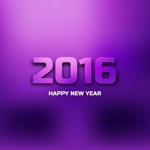 purple-card-of-new-year-2016_1035-144