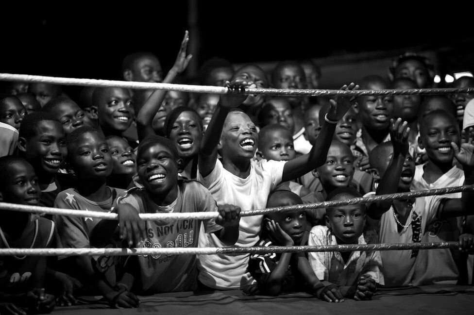 Fight for your dreams - The boxers of Bukom, by Patrick Sinkel, is shortlisted in the Professional Sport category. Boxing is a long-held tradition in Bukom, a suburb of Accra, in Ghana, a country that has produced a couple of world champions, the most famous being Azumah Nelson.