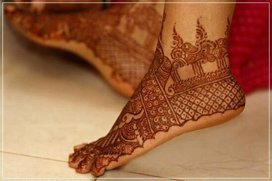 Mehandi Designs for feet and legs (10)