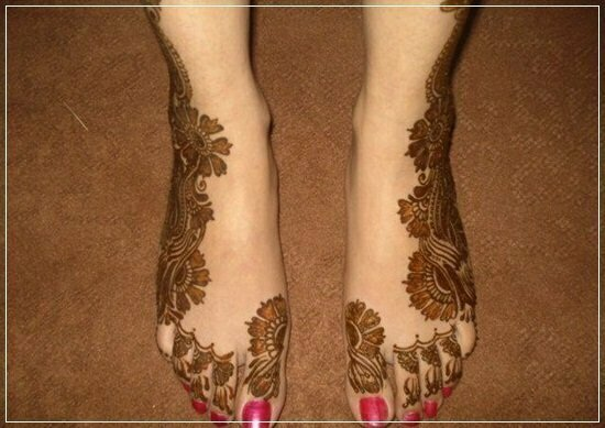 Mehandi Designs for feet and legs (18)