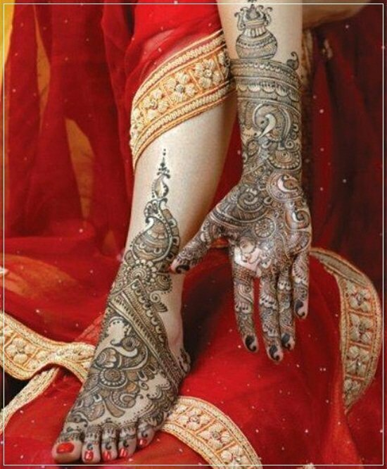 Mehandi Designs for feet and legs (20)