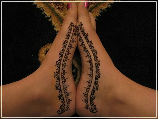 Mehandi Designs for feet and legs (22)