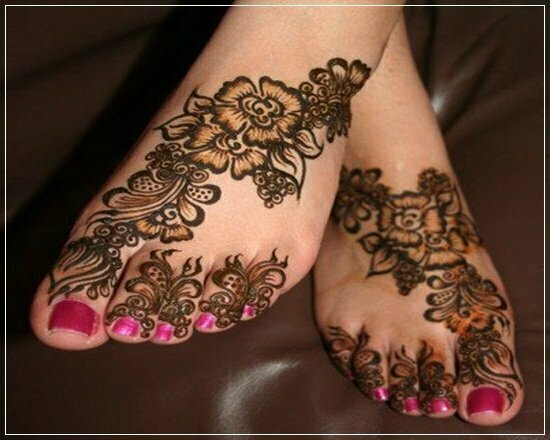 Mehandi Designs for feet and legs (3)