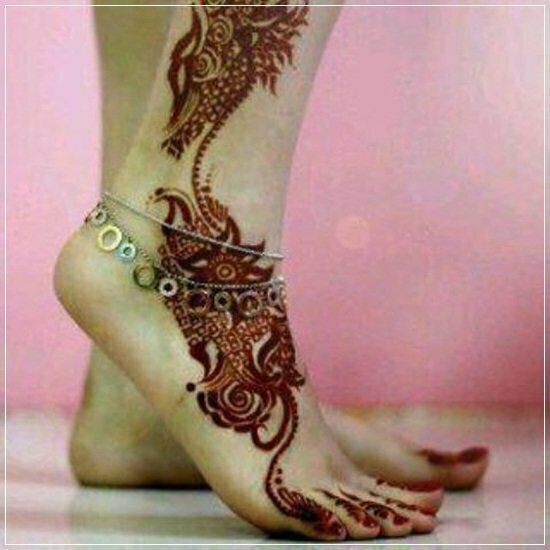 Mehandi Designs for feet and legs (4)