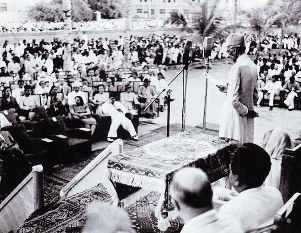 Quaid-e-Azam's last public appearance on 1 July 1948 at the opening of the State Bank of Pakistan