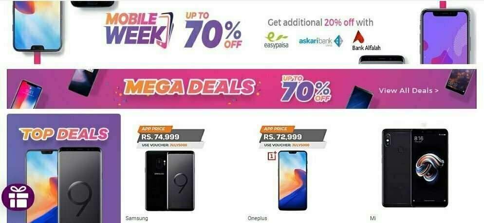 Daraz mobile week 2018 sale discounts on smartphones for Discount mobili on line